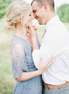 light, airy, blue, fine art engagement session