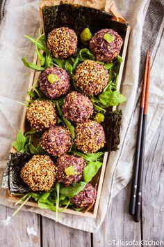 Tales of a Kitchen / Wild rice and rocket onigiri sushi salad