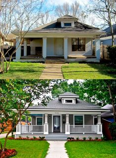 These before and after the house Makeovers will immediately inspire your DIY project - before after home Home Exterior Makeover, Exterior Remodel, Front Porch Makeover, Front Porch Remodel, Before After Home, House Makeovers, Design Case, Design Net, Exterior Design