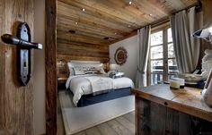 World of #Architecture: Warm #Interior #Design Idea From French #Alps   #worldofarchi #house #home #bedroom