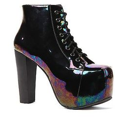 Brand New Jeffrey Campbell Lita Black/Iride Heel sizes: 6, 7, 7.5, 8, 8.5, 9, 10 #JeffreyCampbell #PumpsClassics