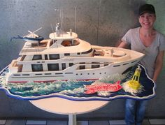 Now here's something different for a birthday cake - A Yacht