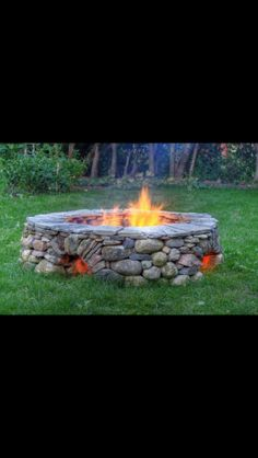 An outdoor fire pit makes a great addition to any yard. I'm a big fan of dry lay stone designs, and these five outdoor fire pits are so inspiring! Outside Living, Outdoor Living, Dream Garden, Home And Garden, Garden Oasis, Outdoor Spaces, Outdoor Decor, Outdoor Ideas, Outdoor Stuff