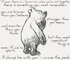 Pooh bear...tooo cute!  Love to read Winnie the Pooh!!!  A.A. Milne speaks to the heart! by annabelle