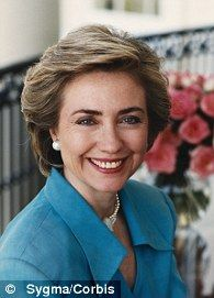 1993 --- Official Portrait of First Lady Hillary Clinton --- Image by ©…