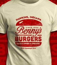 Benny's Burgers  Stranger Things T-Shirt  by CoryFreemanDesign
