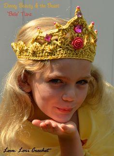 Crochet Beauty & the Beast Belle Tiara                                                                                                                                                                                 More