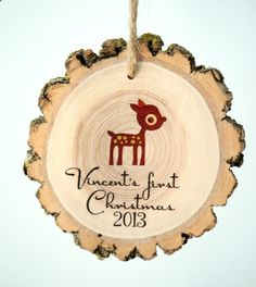 Baby's First Christmas - Baby Reindeer on Etsy, $14.80 CAD