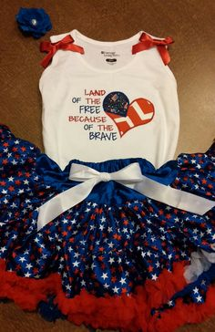4th of july pettiskirt 4th of july outfit by SaraSewtique on Etsy, $35.99