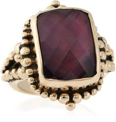 Stephen Dweck Smoky Quartz and Pink Mother-of-Pearl Ring on shopstyle.com