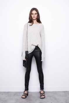 Lixy Fishnet C Sweater, snow, Zadig & Voltaire