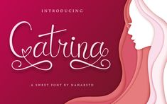 Catrina Script Font is a sweet and stunning script font. It contains uppercase, lowercase, number, punctuation and symbols. Script Typeface, Modern Script Font, Handwritten Fonts, Calligraphy Fonts, All Fonts, Lettering, Beautiful Handwriting, Wedding Fonts, Uppercase And Lowercase