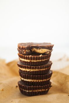 Vegan and gluten free peanut butter cups.