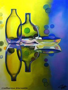par Catherine Wernette, pastel sec 2015, REFLETS Crayons Pastel, Dining Room Wall Decor, Fine Wine, Art Plastique, Types Of Art, Watercolor Paintings, Pastel Paintings, Flower Art, Still Life