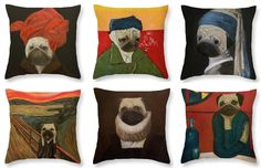 Do you love a pugs and comfort? Look at this bright ideas for how to design your living room, bedroom, and every other room in your house. You can buy this pillows at Fineartamerica http://fineartamerica.com/profiles/yuliia-ustymenko/shop 🐶💜🐶   #fineartamerica #pug #dog #mops #animal #pillow #gift #interior #pet #design #pet #classic #art #подарок #мопс #собака #подушка #интерьер #дизайн #питомец #уют