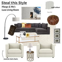 How to design a luxe living room a la Margo and Me!