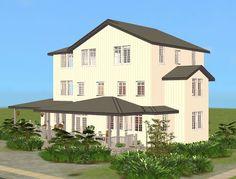 Mod The Sims - Beach Terrace Corner House-Left