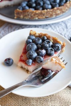 no bake, vegan & gluten free blueberry custard pie | fannetastic food