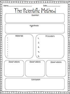 printable scientific method elementary fill in - Google Search