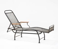 French Adjustable Iron Daybed with Black Aged Coating, 1930's | From a unique collection of antique and modern day beds at http://www.1stdibs.com/furniture/seating/day-beds/