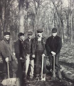 Entries at the Stark County Wood Chopping Contest (1937).
