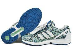 buy popular 54a57 5ad4f Adidas Zx Flux Zielony Niebieski Szary Męskie Buty Do Biegania Online -  trampkitanio.com
