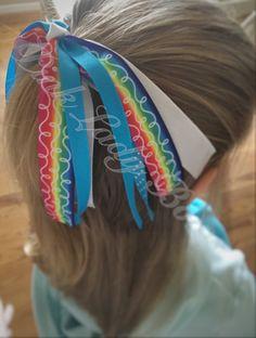 Ponytail Streamer Pony O  Ponytail Bow  by PinkLadyBowsAndGifts