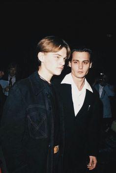 Leonardo DiCaprio and Johnny Depp - Admirable People - Actors Beautiful Boys, Pretty Boys, Cute Boys, Johnny Depp Leonardo Dicaprio, Junger Johnny Depp, Young Johnny Depp, Johny Depp, Film Serie, Brad Pitt