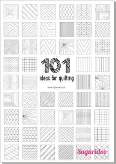 Quilting Stitch Patterns, Machine Quilting Patterns, Patchwork Quilting, Quilt Stitching, Quilting Tutorials, Quilt Patterns, Quilts, Quilting Tips, Straight Line Quilting