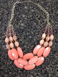 Clumped Stone Statement Necklace
