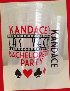 Las Vegas Bachelorette Party Tumbler 16 ounce  - PRIORITY SHIPPING via Etsy