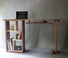 Stand Up Desk In Walnut: Modern Home Office  Custom Wood Furniture (3500.00  USD