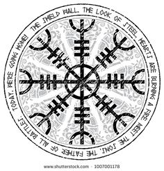 viking design magical runic compass vegvisir in the. Black Bedroom Furniture Sets. Home Design Ideas