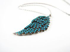 Image of Turquoise necklaces for women,crystal necklaces,charm necklace,angel wing necklace,Turquoise Jewelry Angel Wings Jewelry, Angel Wing Necklace, Silver Necklaces, Crystal Necklace, Bohemian Jewelry, Beaded Jewelry, Turquoise Jewelry, Turquoise Bracelet, Mother Of The Groom Gifts