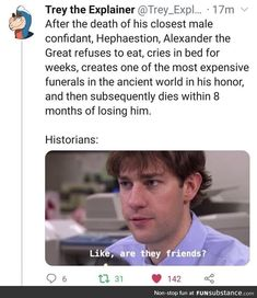 History Memes, History Facts, Stupid Funny Memes, Hilarious, Alexander The Great, Faith In Humanity, Tumblr Funny, Really Funny, I Laughed