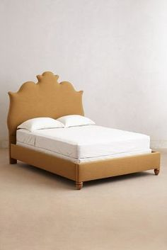 Love the Regency Linen Bed, because... well, it's REGAL! Is there a better reason? #Anthropologie #PinToWin