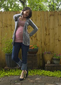 how cute is this?could i change my red stripe shirt into maternity?