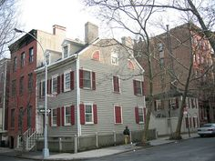 BROOKLYN HEIGHTS, NY  One of the oldest houses on the Heights, at the corner of Middagh and Willow streets.