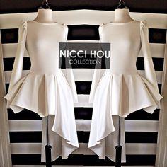 #niccihoucollection asymmetrical peplum top