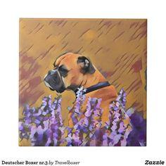 Deutscher Boxer nr.3 Fliese Painting, Art, Tiles, Idea Paint, Pet Dogs, Painting Art, Paintings, Kunst, Paint