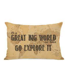 'Great Big World' Map Pillow