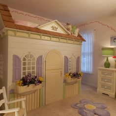 Cottage Style Loft Bed: Perfect for a girls room!