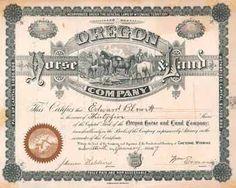 Oregon Horse & Land Co. 35 shares à 100 $ 17.1.1887.