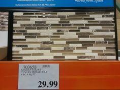 costco casablanca white $24.99 5 square foot tiles | kitchen ideas