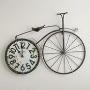 Bicycle Wall Clock | World Market $39.99. This just says Bailey to me.