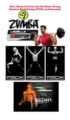 How Many Calories Do You Burn Doing p90X, Zumba, Insanity, and BodyPump?  #fitness #exercise #weight loss