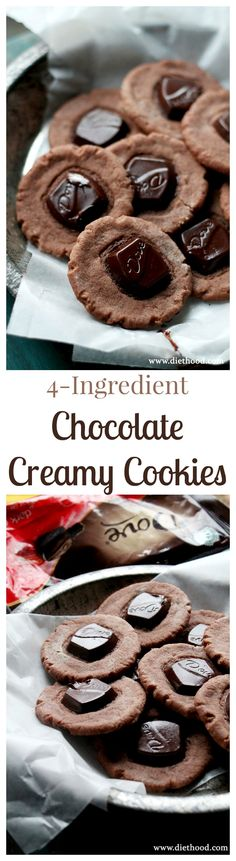 Made with just 4-ingredients, these Chocolate Cookies are going to quickly become your Holiday favorites!