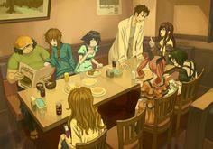 I love this Fan Art! Sci Fi Anime, Anime Nerd, Steins Gate 0, Kurisu Makise, Afro Samurai, Anime Friendship, Sailor Saturn, Another Anime, Gurren Lagann