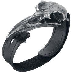 Bracelet en cuir Alchemy Gothic »Raven Skull«   Dispo chez EMP   Plus de Bracelets Gothic sur notre site en ligne ✓ Prix imbattables !