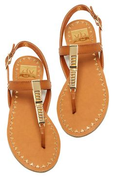 DV Sandals in Brown and Gold